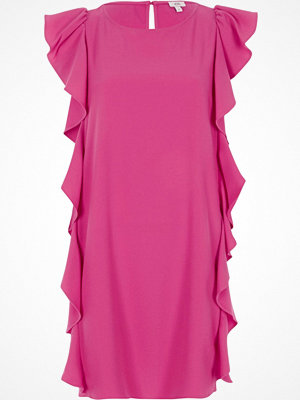 River Island Bright Pink frill side sleeveless swing dress