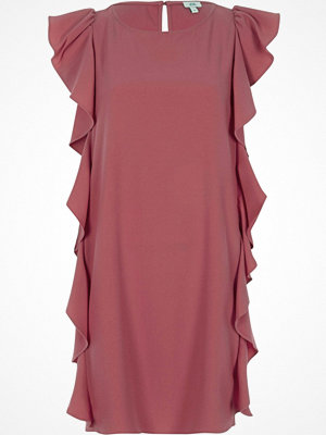 River Island Dark Pink frill side sleeveless swing dress
