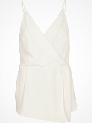 River Island River Island Womens Cream tuxedo style wrap cami top