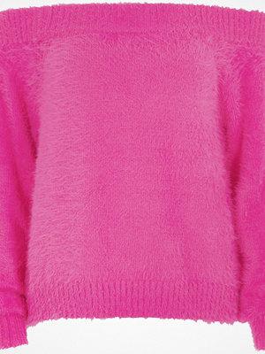 River Island River Island Womens Bright Pink bardot fluffy knit jumper