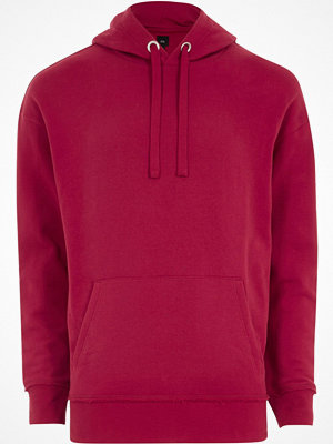 Street & luvtröjor - River Island River Island Mens Big and Tall Pink oversized hoodie