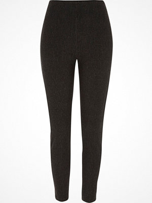Leggings & tights - River Island River Island Womens Grey stripe leggings