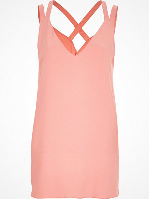 River Island River Island Womens Pink double strap cross back vest