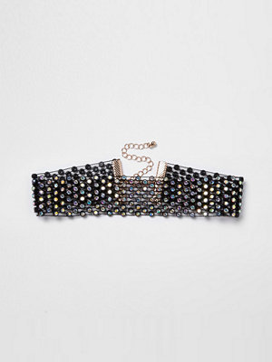 Chokers - River Island River Island Womens Black diamante choker