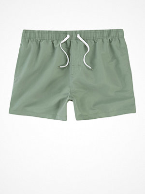 Badkläder - River Island Olive green swim shorts