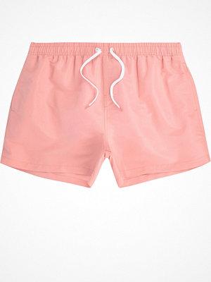 Badkläder - River Island Light Pink swim shorts