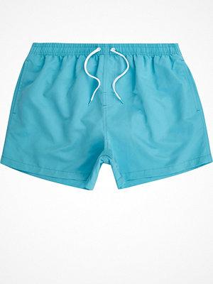 Badkläder - River Island Bright Blue swim shorts