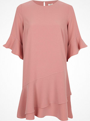 River Island River Island Womens Light Pink frill peplum hem swing dress