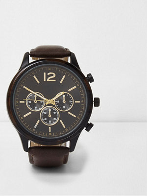 Klockor - River Island Brown round face watch