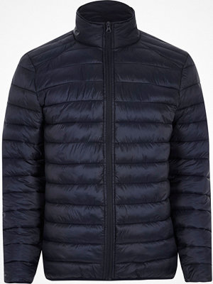 River Island Navy funnel neck puffer jacket