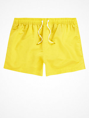 Badkläder - River Island Neon yellow swim shorts