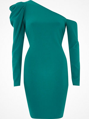 River Island Green one shoulder bodycon mini dress