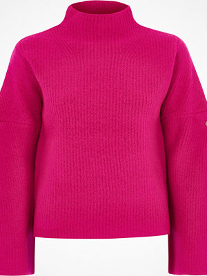River Island River Island Womens Pink high neck wide sleeve faux pearl jumper