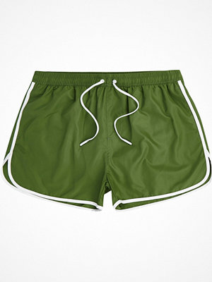 River Island Green runner short swim shorts