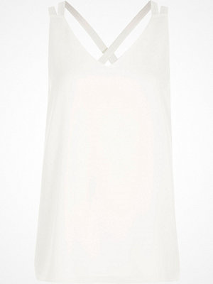 River Island River Island Womens White double strap cross back vest