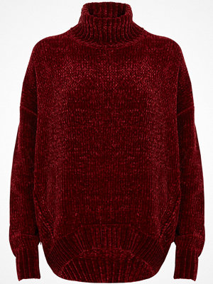 River Island River Island Womens Red chenille knit oversized roll neck jumper