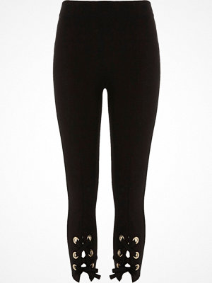 Leggings & tights - River Island River Island Womens Petite Black lace-up leggings