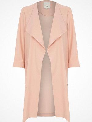 River Island River Island Womens Light Pink fallaway duster coat