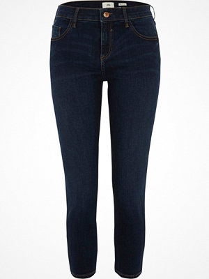 Jeans - River Island River Island Womens Petite dark Blue Amelie super skinny jeans
