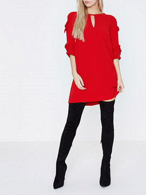 River Island River Island Womens Petite Red bow tie sleeve shift dress