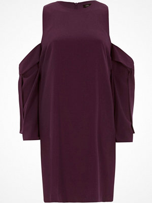 River Island River Island Womens Purple cold shoulder swing dress