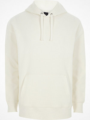Street & luvtröjor - River Island River Island Mens White waffle oversized hoodie