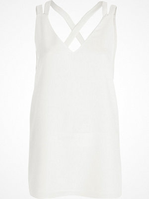 River Island River Island Womens Cream double strap cross back vest