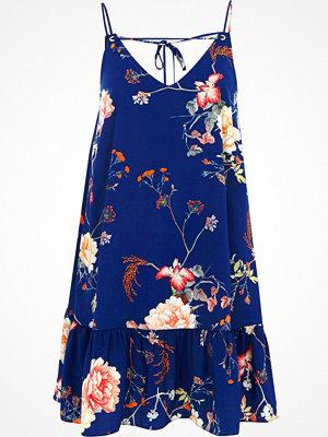 River Island River Island Womens Blue floral frill hem cami dress