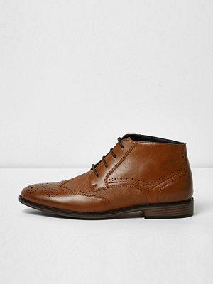 Boots & kängor - River Island River Island Mens Tan textured brogue boots