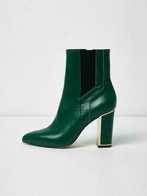 Boots & kängor - River Island River Island Womens Green pointed block heel boots