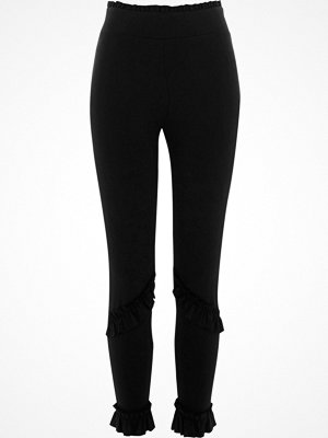 Leggings & tights - River Island River Island Womens Black frill detail leggings