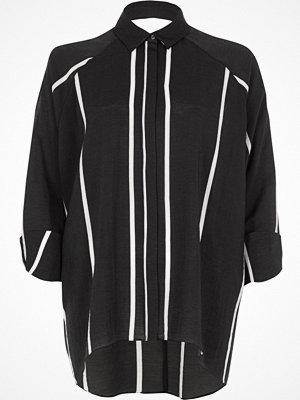 Skjortor - River Island River Island Womens Black stripe cut out back shirt