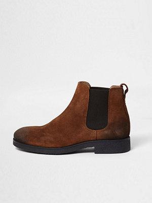 Boots & kängor - River Island River Island Mens Tan suede chelsea boots