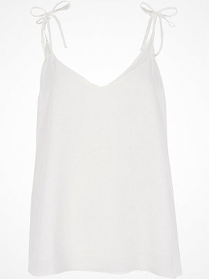 Linnen - River Island River Island Womens White bow shoulder cami top