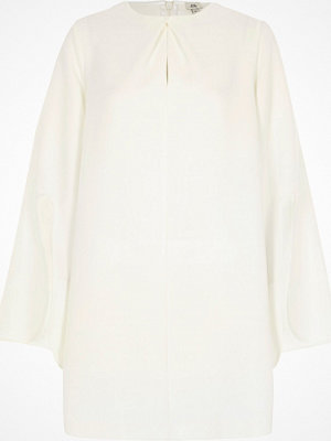 River Island River Island Womens White long split sleeve swing dress