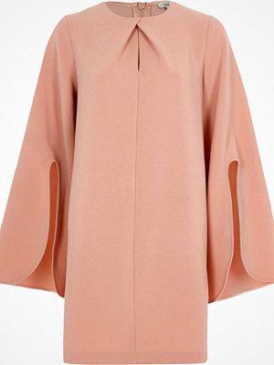 River Island Light Pink long split sleeve swing dress