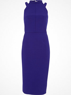 River Island River Island Womens Bright Blue bow back midi bodycon dress
