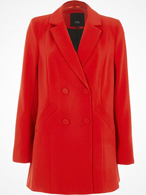 River Island Red double breasted jacket