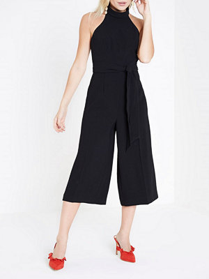 Jumpsuits & playsuits - River Island River Island Womens Petite Black high neck culotte jumpsuit