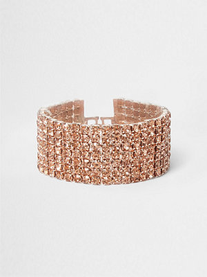River Island armband River Island Womens Rose Gold tone cup chain bracelet