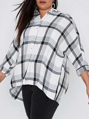 River Island River Island Womens Plus Grey check wrap back shirt