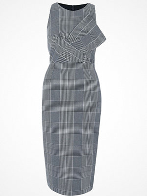 River Island River Island Womens Grey check bow front bodycon dress