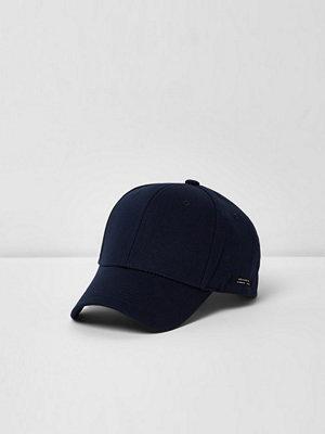 Mössor - River Island Navy baseball cap