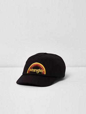 Mössor - River Island Black Wrangler rainbow baseball cap