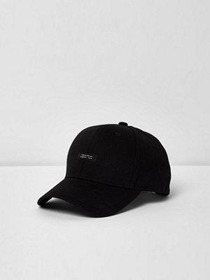 Mössor - River Island Black baseball cap