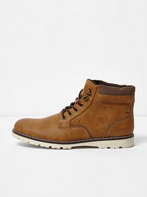 Boots & kängor - River Island River Island Mens Tan warm lined lace-up boots