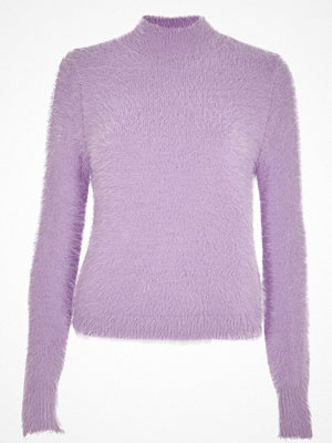 River Island River Island Womens Light Purple fluffy knit high neck jumper
