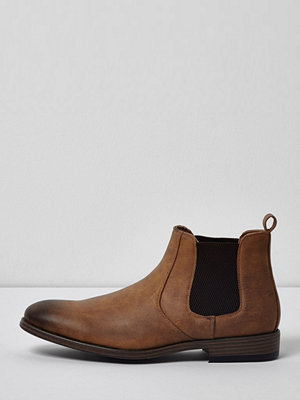 River Island River Island Mens Tan brown chelsea boots
