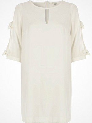 River Island White bow sleeve swing dress