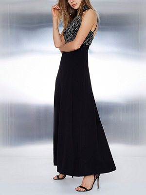 River Island Black embellished strappy back maxi dress